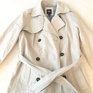 Natural beige trench jacket
